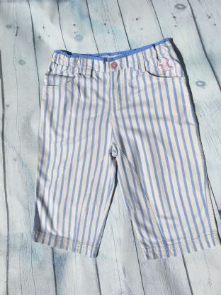 Joules blue and white striped shorts age 7 (fits age 6-7)